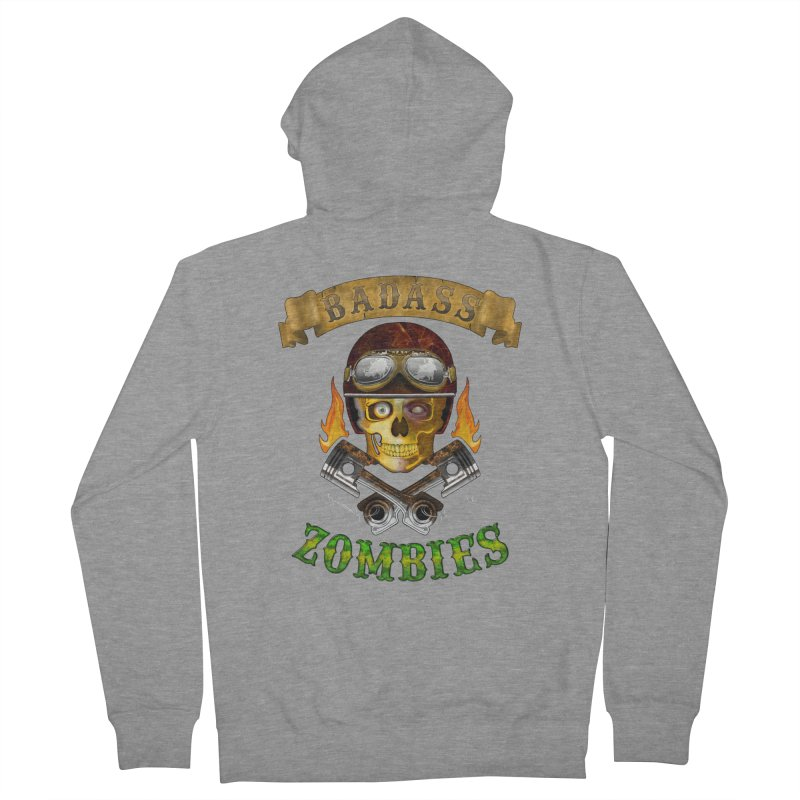 Badass Zombies Men's Zip-Up Hoody by ferg's Artist Shop