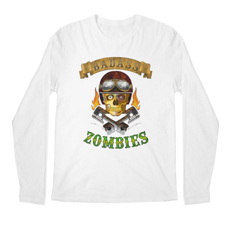 Badass Zombies Men's Longsleeve T-Shirt by ferg's Artist Shop