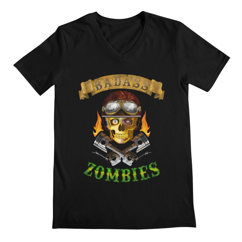 Badass Zombies Men's V-Neck by ferg's Artist Shop