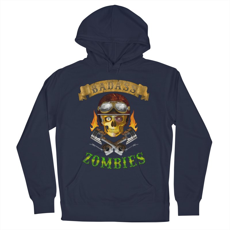 Badass Zombies Women's French Terry Pullover Hoody by ferg's Artist Shop