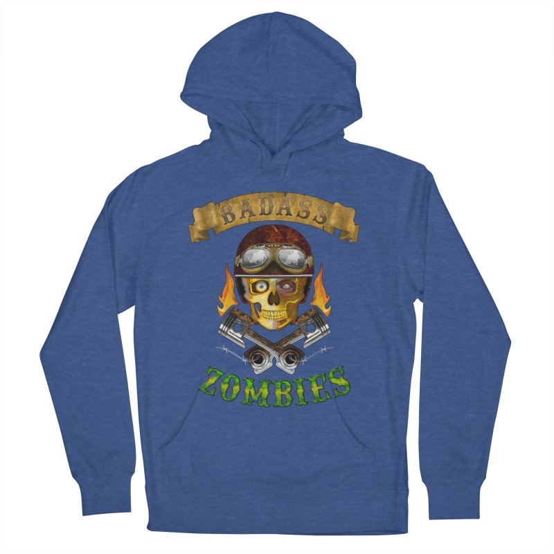 Badass Zombies Men's French Terry Pullover Hoody by ferg's Artist Shop