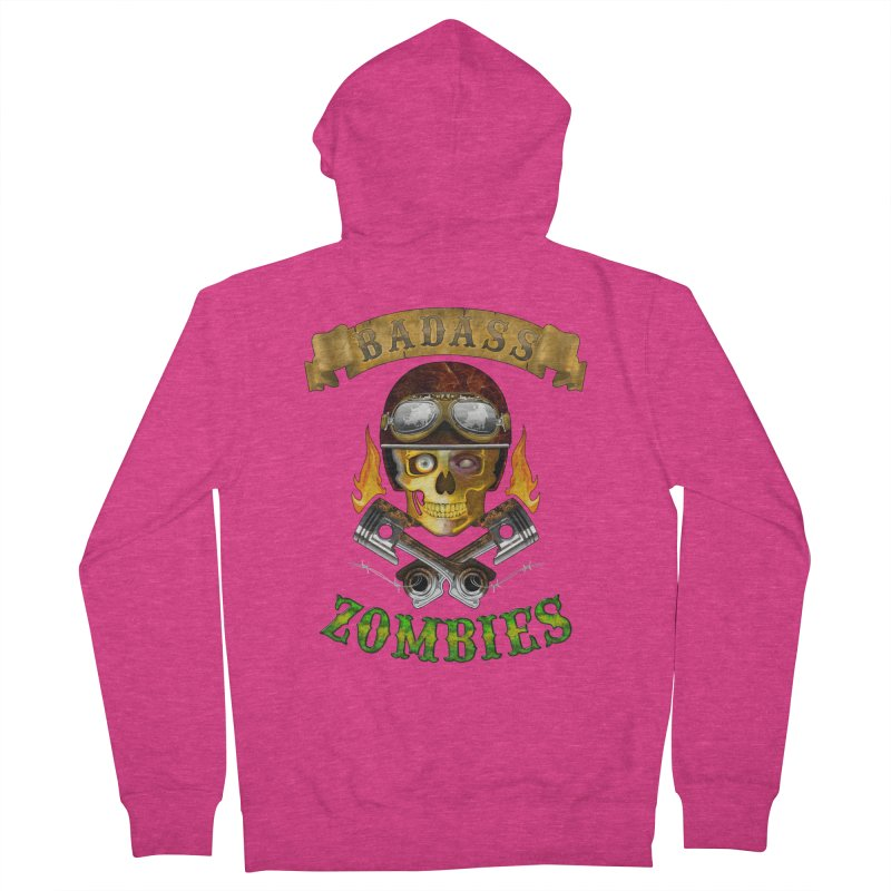 Badass Zombies Women's French Terry Zip-Up Hoody by ferg's Artist Shop