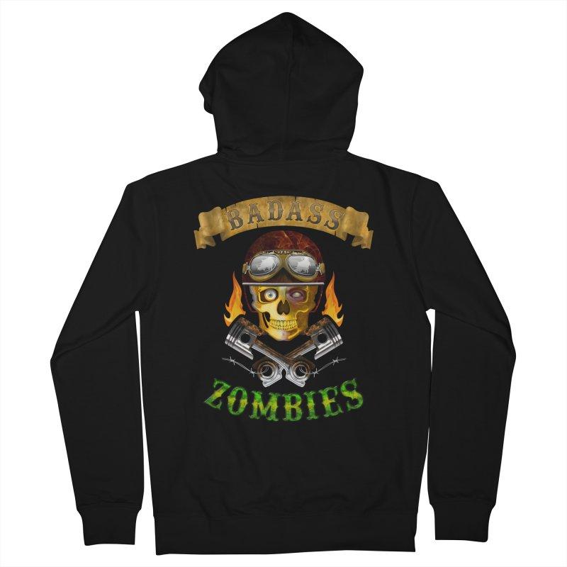 Badass Zombies Women's Zip-Up Hoody by ferg's Artist Shop