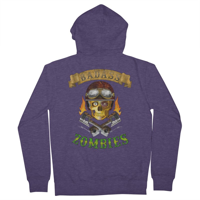 Badass Zombies Men's French Terry Zip-Up Hoody by ferg's Artist Shop