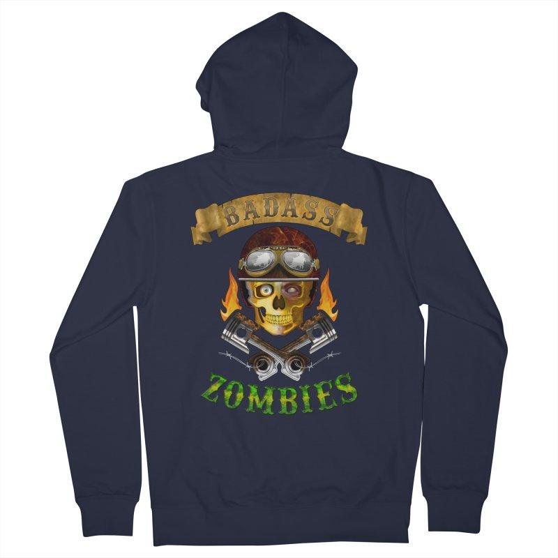 Badass Zombies Men's Zip-Up Hoody by ferg's Artist Shop