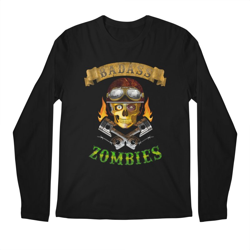 Badass Zombies Men's Regular Longsleeve T-Shirt by ferg's Artist Shop