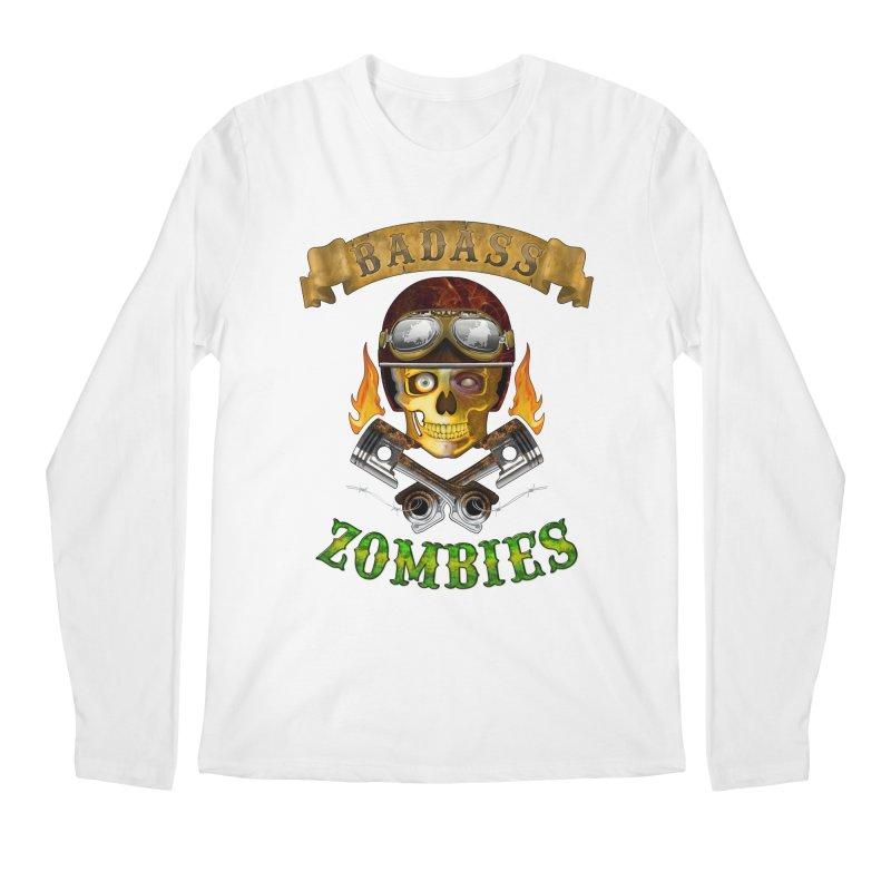Badass Zombies Men's Regular Longsleeve T-Shirt by ferg's Artist Shop