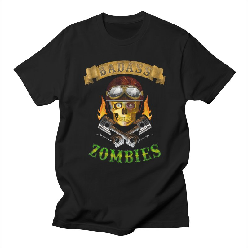 Badass Zombies Men's Regular T-Shirt by ferg's Artist Shop