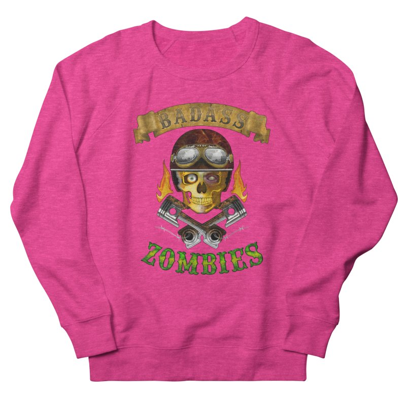 Badass Zombies Women's French Terry Sweatshirt by ferg's Artist Shop