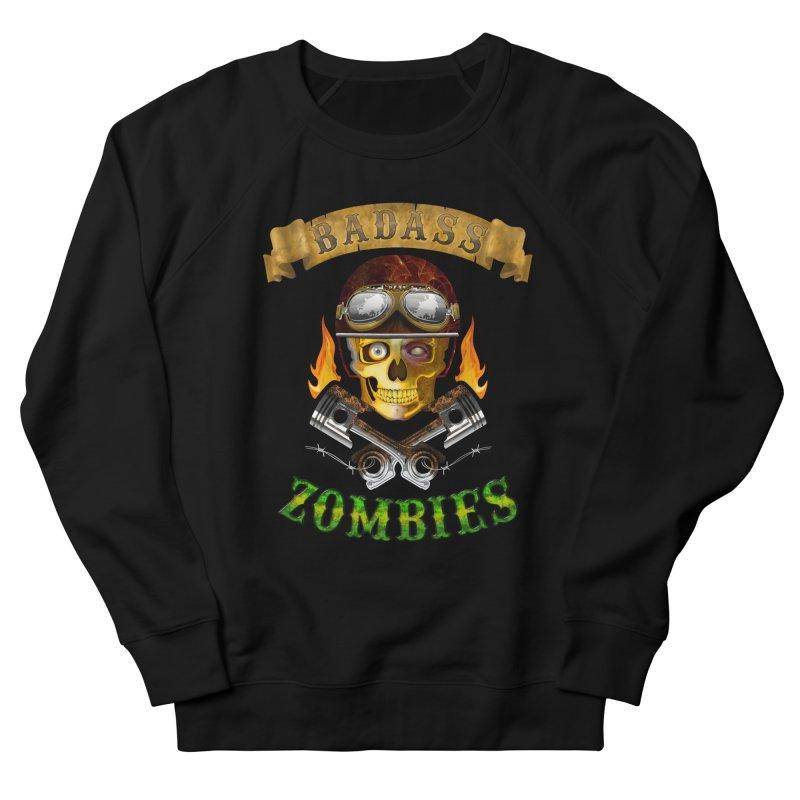 Badass Zombies Women's French Terry Sweatshirt by ferg's Artist Shop