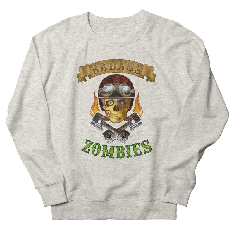 Badass Zombies Men's French Terry Sweatshirt by ferg's Artist Shop