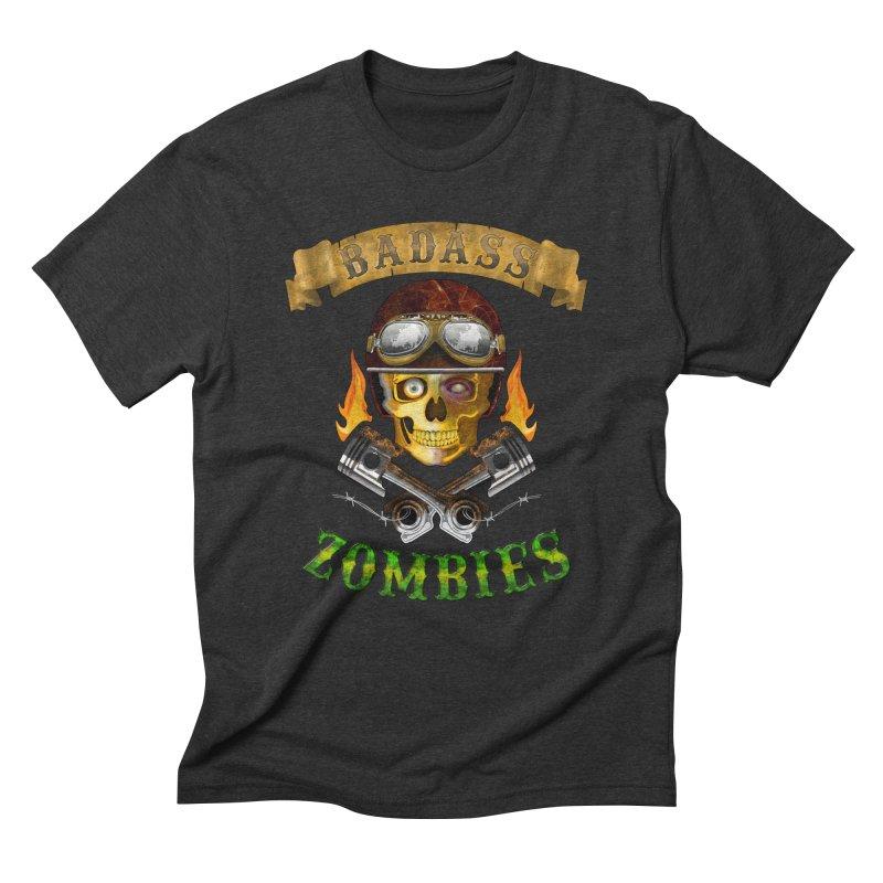 Badass Zombies Men's Triblend T-Shirt by ferg's Artist Shop