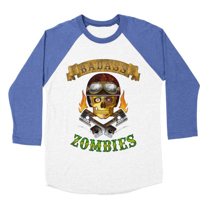 Badass Zombies Women's Baseball Triblend Longsleeve T-Shirt by ferg's Artist Shop