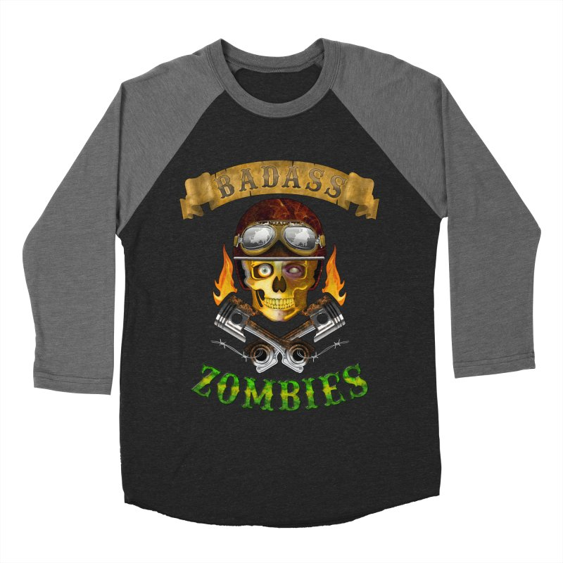 Badass Zombies Men's Baseball Triblend T-Shirt by ferg's Artist Shop