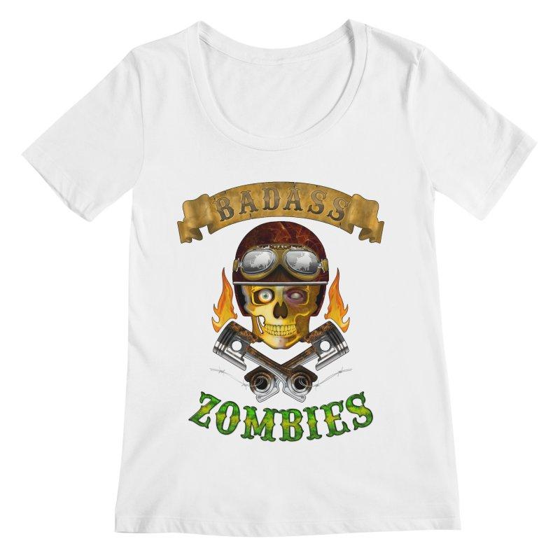 Badass Zombies Women's Regular Scoop Neck by ferg's Artist Shop