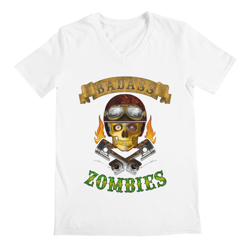 Badass Zombies Men's V-Neck by ferg's Artist Shop