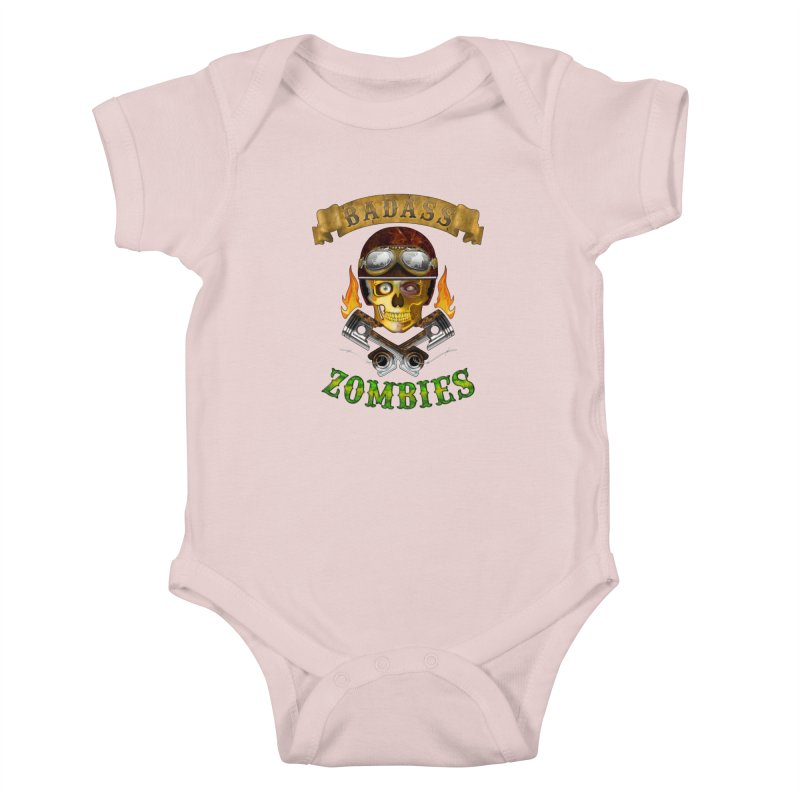 Badass Zombies Kids Baby Bodysuit by ferg's Artist Shop