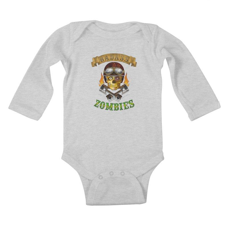 Badass Zombies Kids Baby Longsleeve Bodysuit by ferg's Artist Shop