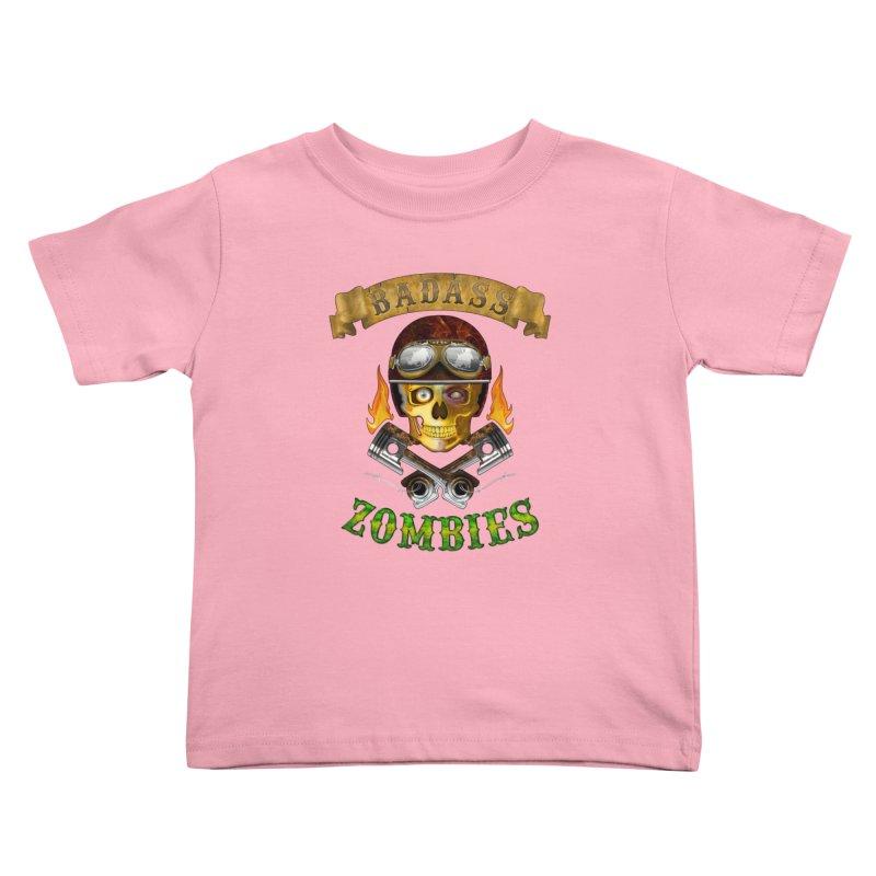 Badass Zombies Kids Toddler T-Shirt by ferg's Artist Shop