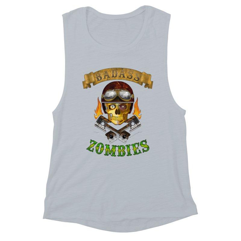Badass Zombies Women's Muscle Tank by ferg's Artist Shop