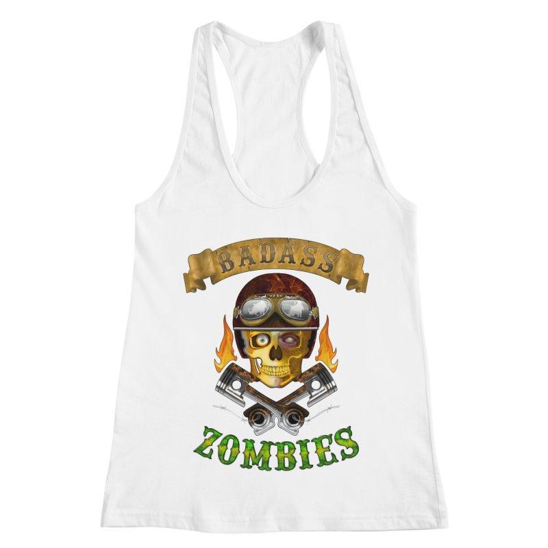 Badass Zombies Women's Racerback Tank by ferg's Artist Shop