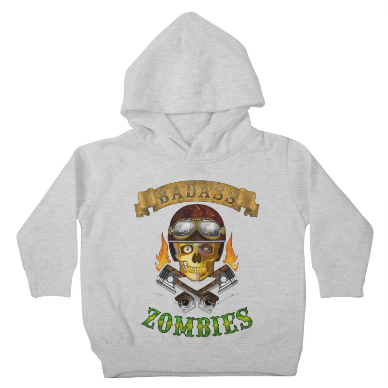 Badass Zombies Kids Toddler Pullover Hoody by ferg's Artist Shop