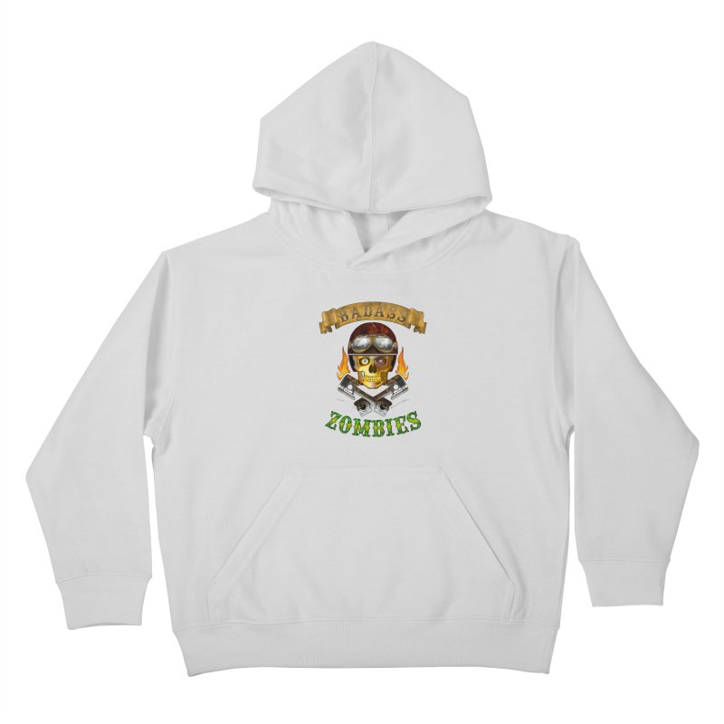 Badass Zombies Kids Pullover Hoody by ferg's Artist Shop