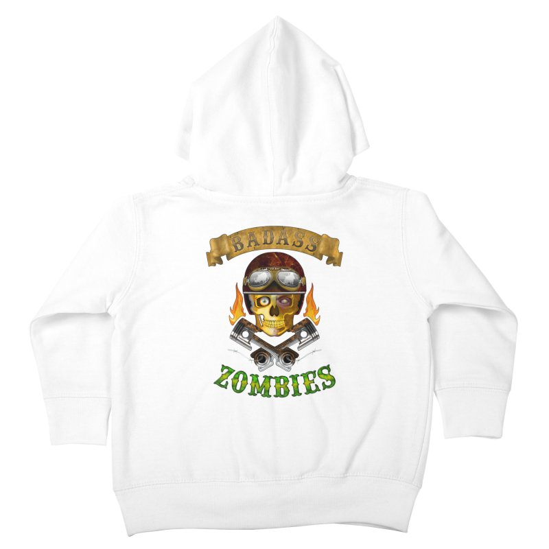 Badass Zombies Kids Toddler Zip-Up Hoody by ferg's Artist Shop