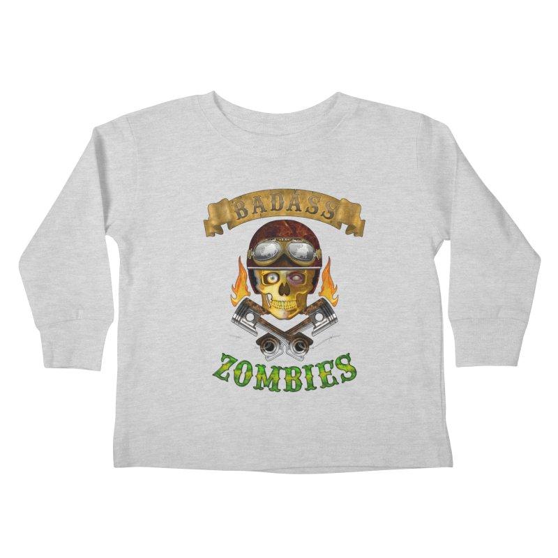 Badass Zombies Kids Toddler Longsleeve T-Shirt by ferg's Artist Shop