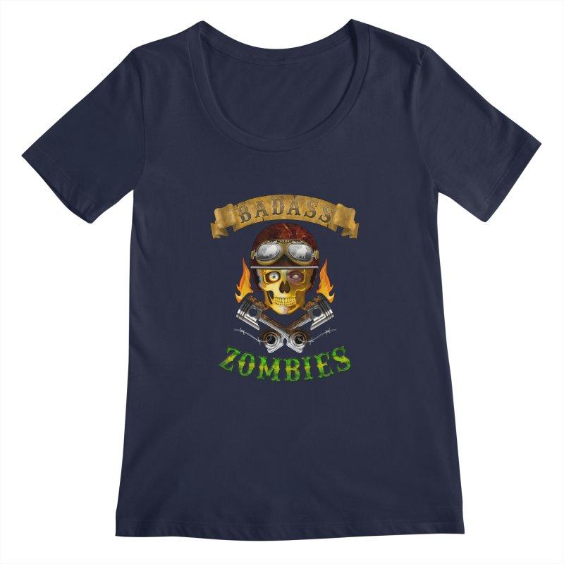 Badass Zombies Women's Scoopneck by ferg's Artist Shop