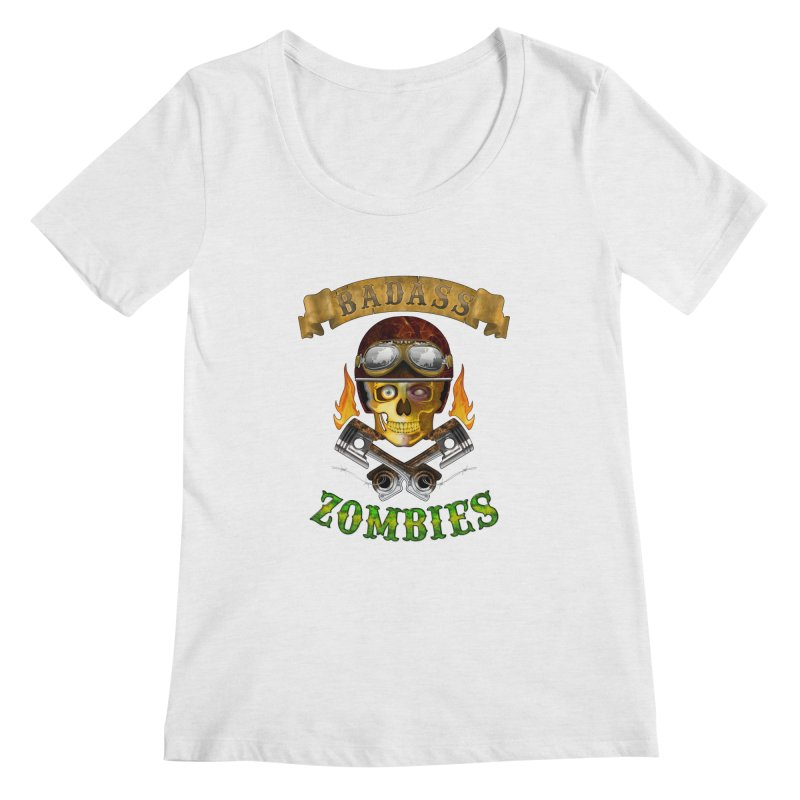 Badass Zombies Women's Regular Scoop Neck by ferg's Artist Shop