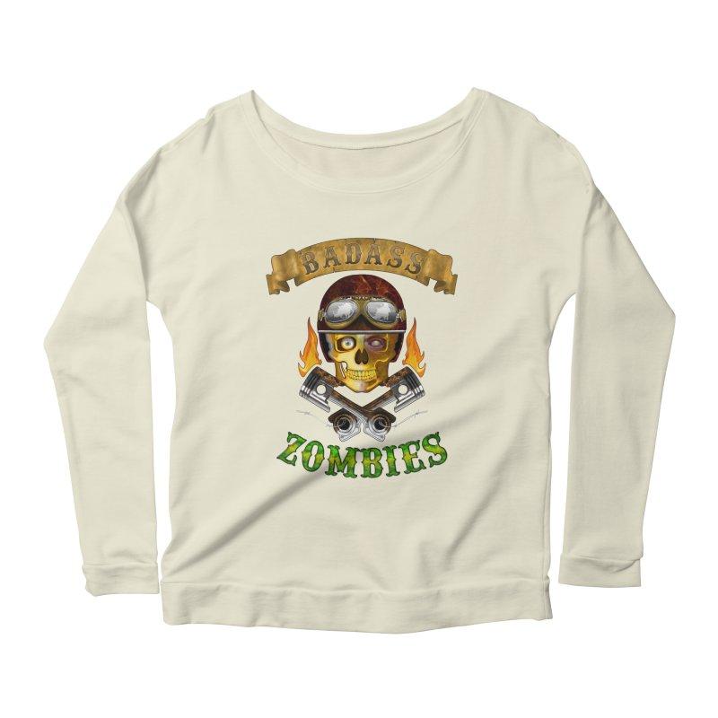 Badass Zombies Women's Scoop Neck Longsleeve T-Shirt by ferg's Artist Shop