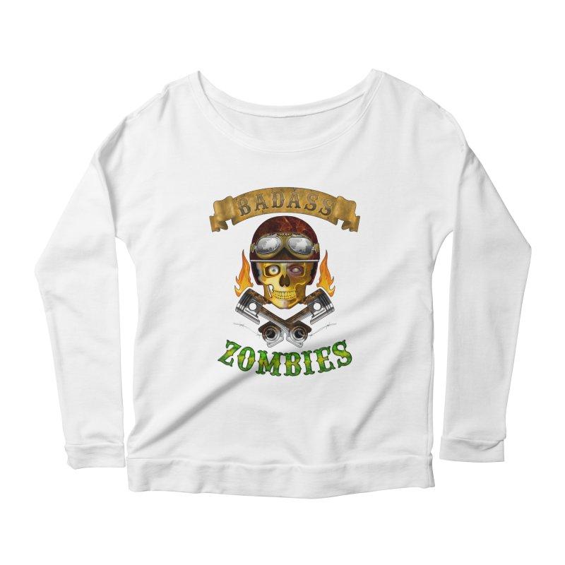 Badass Zombies Women's Longsleeve Scoopneck  by ferg's Artist Shop