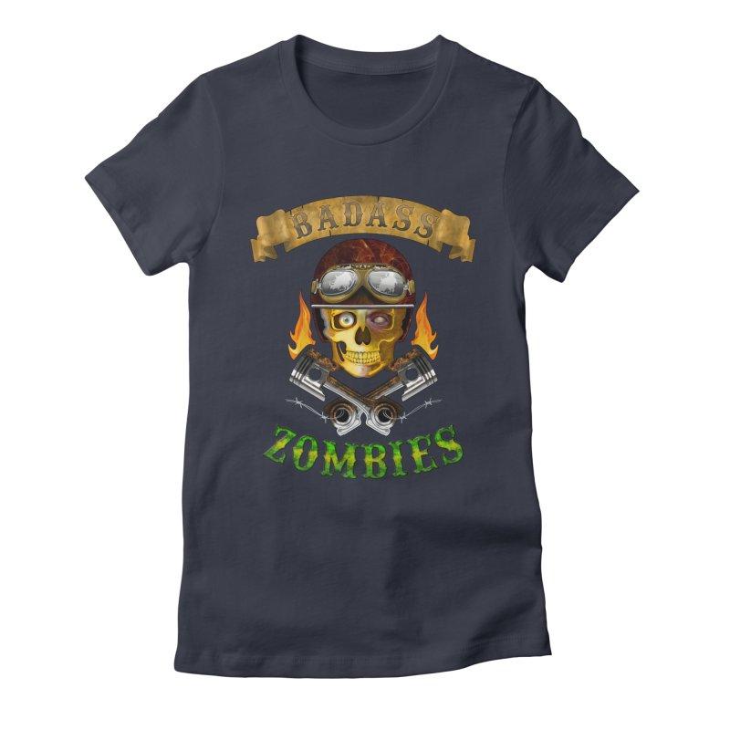 Badass Zombies Women's Fitted T-Shirt by ferg's Artist Shop
