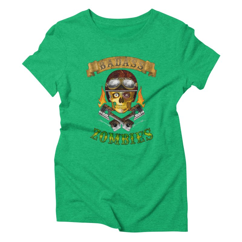 Badass Zombies Women's Triblend T-Shirt by ferg's Artist Shop