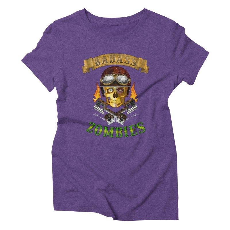 Badass Zombies Women's Triblend T-shirt by ferg's Artist Shop