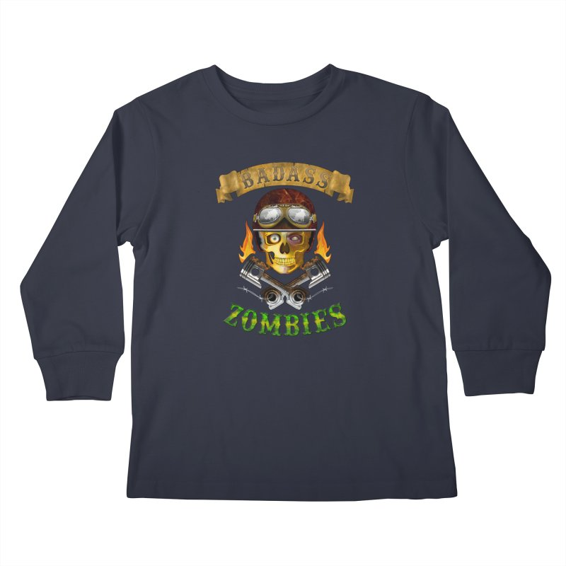 Badass Zombies Kids Longsleeve T-Shirt by ferg's Artist Shop