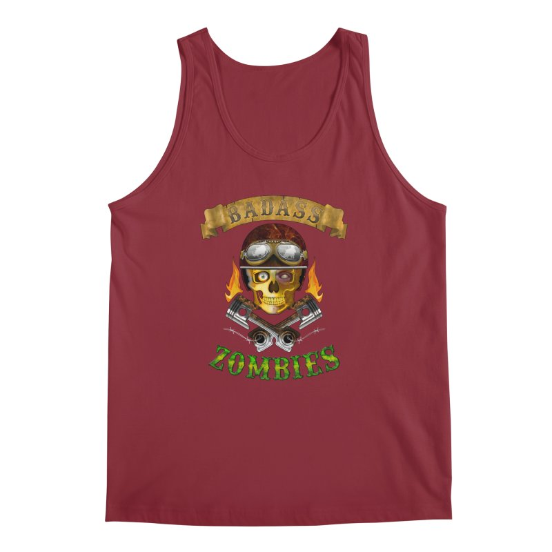 Badass Zombies Men's Regular Tank by ferg's Artist Shop