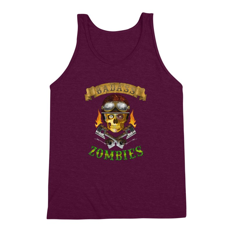 Badass Zombies Men's Triblend Tank by ferg's Artist Shop