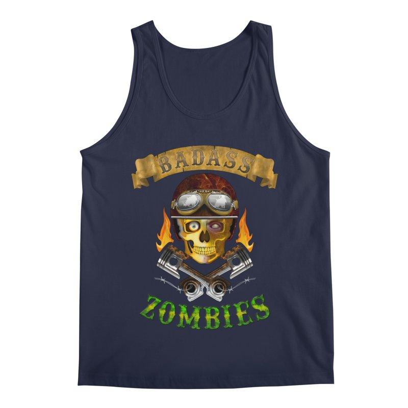 Badass Zombies Men's Regular Tank by ferg's Artist Shop