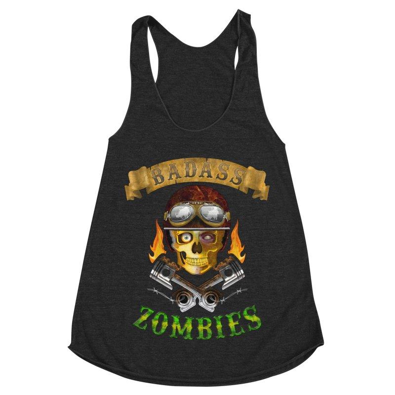 Badass Zombies Women's Racerback Triblend Tank by ferg's Artist Shop