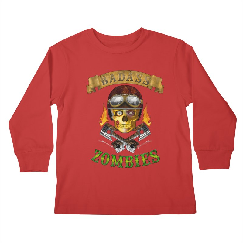 Badass Zombies Kids Longsleeve T-Shirt by ferg's Artist Shop