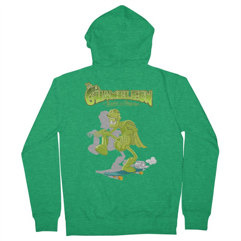 Chameleon Women's French Terry Zip-Up Hoody by ferg's Artist Shop