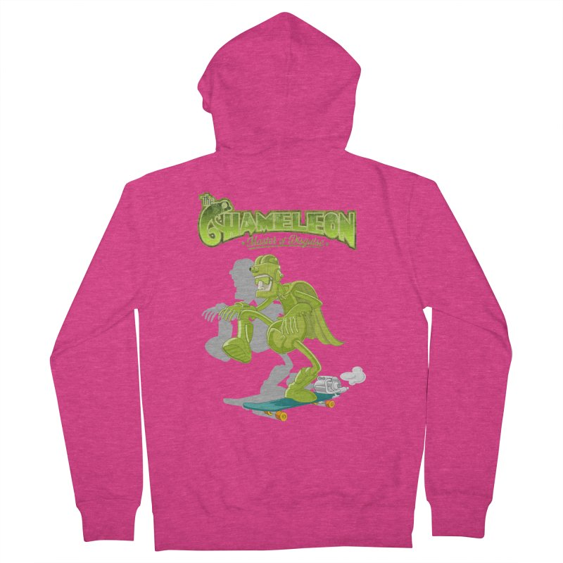 Chameleon Women's Zip-Up Hoody by ferg's Artist Shop