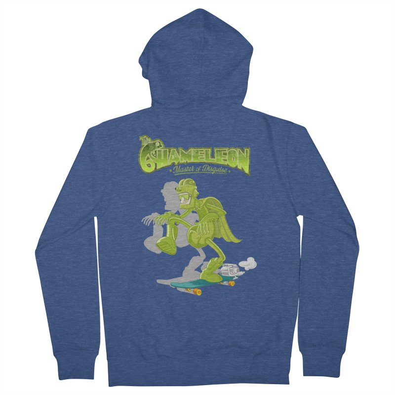 Chameleon Men's Zip-Up Hoody by ferg's Artist Shop