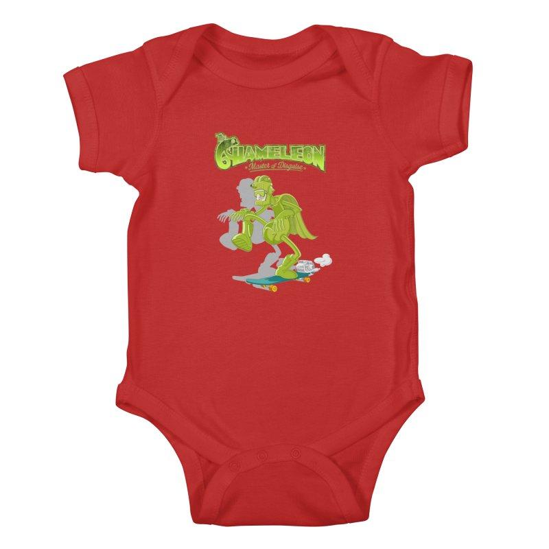 Chameleon Kids Baby Bodysuit by ferg's Artist Shop