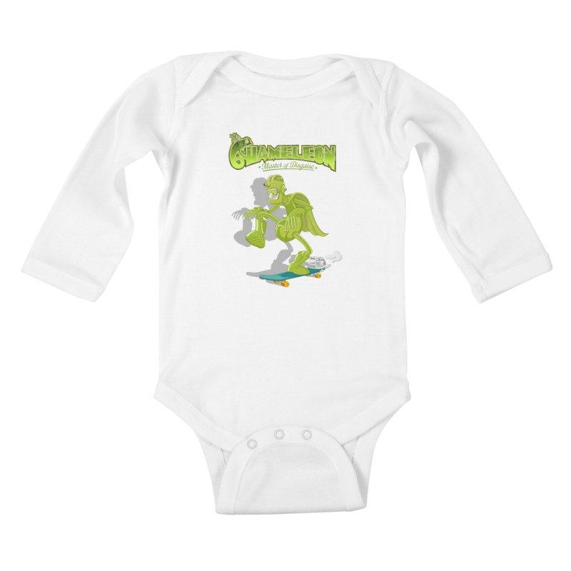 Chameleon Kids Baby Longsleeve Bodysuit by ferg's Artist Shop