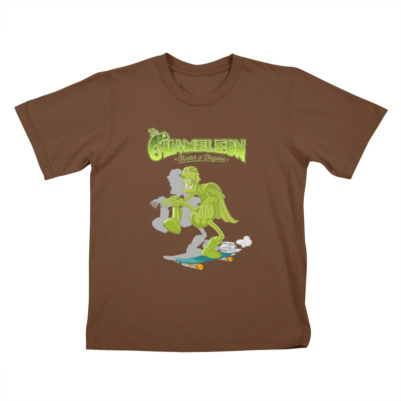 Chameleon Kids T-Shirt by ferg's Artist Shop