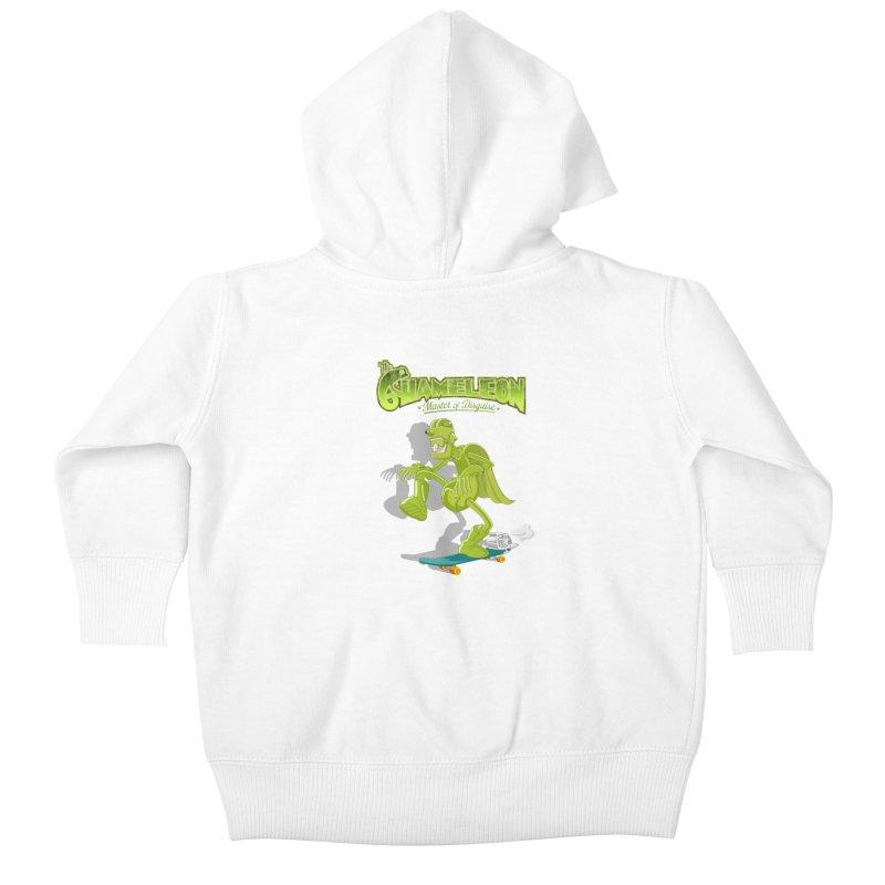 Chameleon Kids Baby Zip-Up Hoody by ferg's Artist Shop