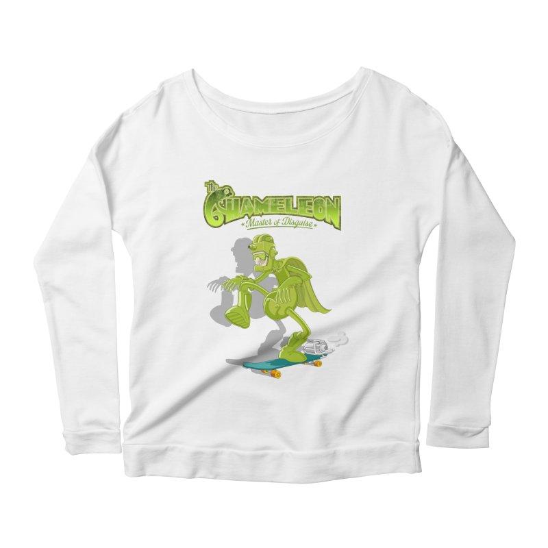 Chameleon Women's Scoop Neck Longsleeve T-Shirt by ferg's Artist Shop